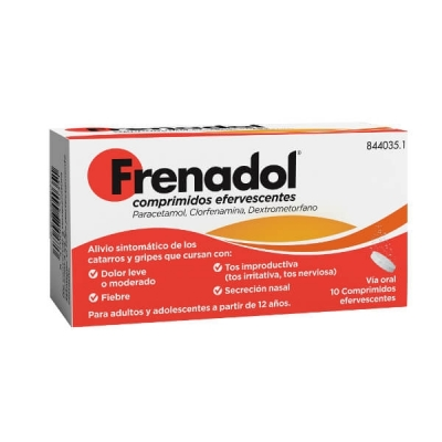 FRENADOL 10 COMPRIMIDOS...