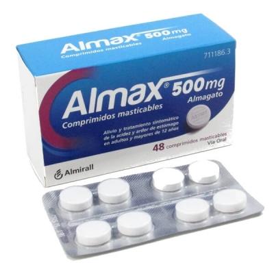 ALMAX 500MG, 48 COMPRIMIDOS...