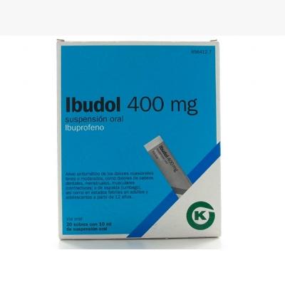 IBUDOL 400 MG 20 SOBRES...