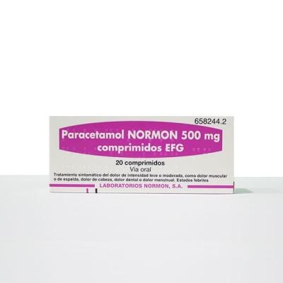 PARACETAMOL NORMON EFG 500...