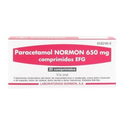 PARACETAMOL NORMON EFG 650...