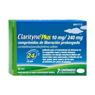 CLARITYNE PLUS 10/240 MG 7...